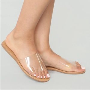 Clear To Nude Sandals